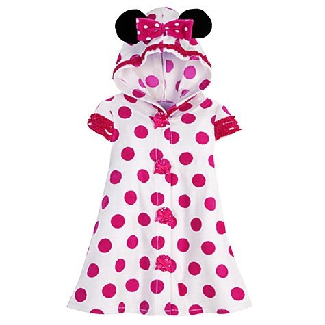 df28a swimsuit cover up 513uGd klKL Disney Store Minnie Mouse Pink Polka Dot Terry Cloth Hooded Swimsuit Cover Up Hoodie Pool Dress for Toddler Girls Size 2T